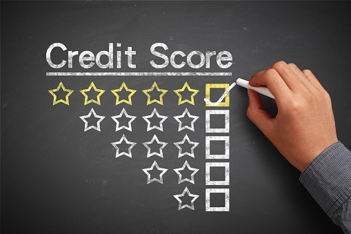 credit score graphic