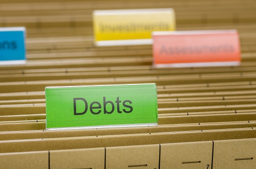 debts folder tab