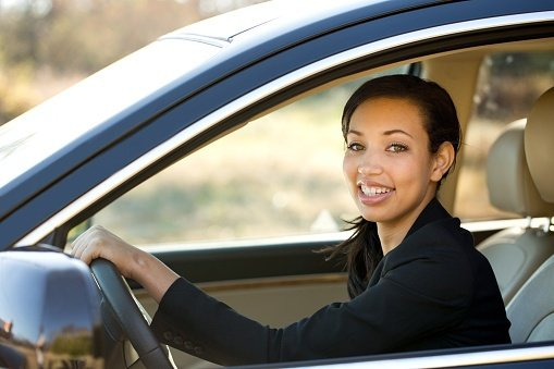 woman driving car after bankruptcy
