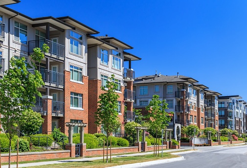 newly built condominiums