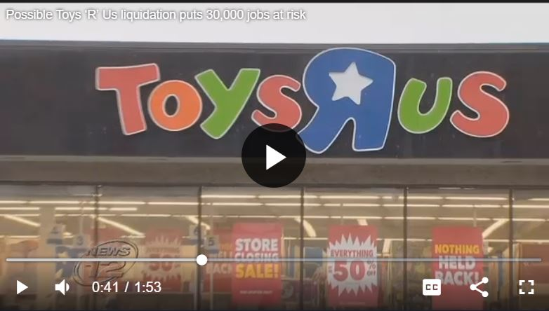 Toys R Us Liquidation News Story