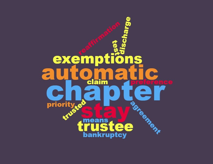 bankruptcy terms wordcloud