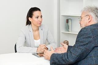 catastrophic injury attorney helping client