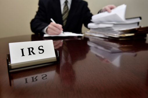 irs agent at desk