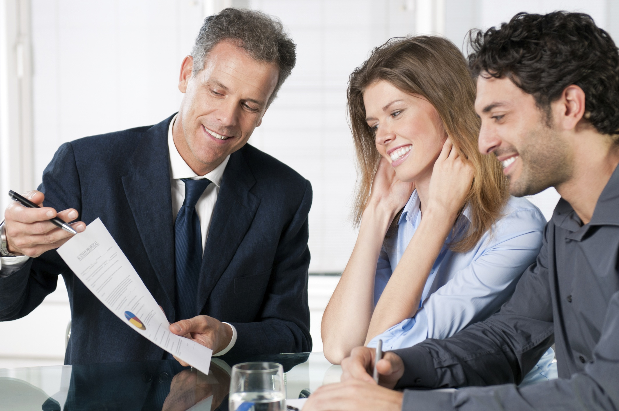 A lawyer counseling a couple.