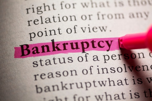 "A dictionary with the word ""bankruptcy"" highlighted"